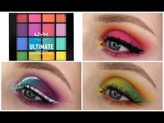 (3) NYX ULTIMATE BRIGHTS PALETTE | 3 Looks, 1 Palette! - YouTube
