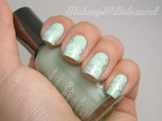 Sally Hanson mint sorbet with silver stamp - Makeup Withdrawal
