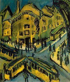 Ernst Ludwig Kirchner (1880-1938) Die Brücke is opgericht op 7 juni 1905 in Dresden. De stichters zijn Ernst Ludwig Kirchner, Fritz Bleyl, Karl Schmidt-Rottluff en Erich Heckel, op dat moment allen studenten bouwkunde in Dresden. Kirchner heeft het initiatief genomen tot de oprichting. Aan Schmidt- Rottluff is de naam te danken. Bleyl verlaat de groep in 1907, terwijl andere kunstenaars zich aansluiten.