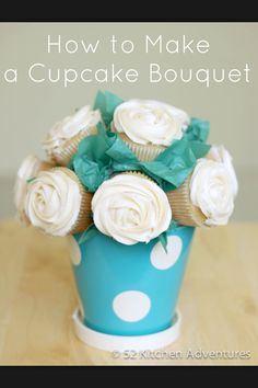 Cream Rose Cupcake Bouquet for your Big/Little