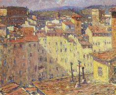 Adolfo Tommasi (Italie, 1851-1933) – View of an Italian Town (ca 1880-90) Sheffield Galleries & Museums Trust, Angleterre