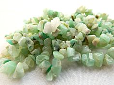 160cts Chrysoprase Gemstone Chips 3x1 to 8x3mm - Top Quality    Im happy to answer any questions!    All of my photographs are taken in natural