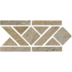 """Bedrosians 12"""" x 6"""" Stone Mosaic Liner Tile in Amber Gold"""