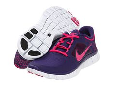 brand new 980be f3068 Nike Free Run+ 3 Polarized Pink Sport Grey Summit White Reflective Silver -