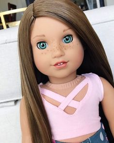 I know I haven't posted in so long, but I am so happy to be back, and I missed agig so much! And now I can finally continue… Custom American Girl Dolls, American Girl Doll Pictures, American Doll Clothes, Girl Doll Clothes, Custom Dolls, Girl Pictures, Silikon Baby, America Girl, Ag Dolls