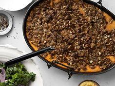 Roasted Sweet-Potato Casserole with Praline Streusel