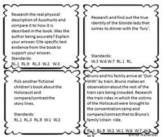 looking for a new way for your students to review significant boy in the striped pajamas writing task cards