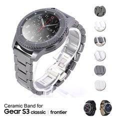 22Mm Ceramic Watch Strap Band Wristband For Samsung Gear S3 Classic Frontier