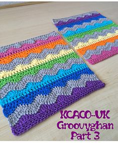 Ravelry: On the Groovy Waves - 10 Inch Block pattern by Heather C Gibbs