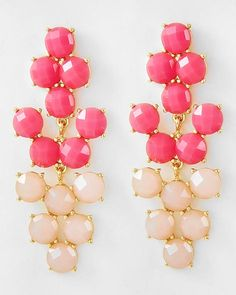 Bows To Toes | Pink & Peach Earrings | Online Store Powered by Storenvy