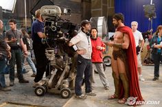 "HQ Gerard Butler as King Leonidas in ""300"" - 2007. Behind the scenes...good gawd he was a MONSTER, wasn't he? Rowr..."