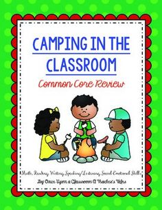 In this unit, you will have all the activities you need to have a week filled of camping themed learning activities. It serves as an excellent common core skill review for second grade but could also be used in first or third. It contains reading, writing, math, speaking/listening, and social emotional learning activities.