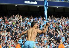 Barclay's Premier League, 13th May 2012, Manchester City 3 - 2 QPR, Sergio Aguero scores the title winning goal in the 93rd minute.
