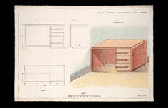 Proiezioni ortogonali e assonometrica di una scrivania