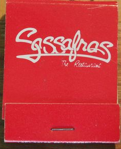 Sassafras - The Restaurant #matchbook To order your business' own branded #matchbooks call TheMatchGroup @ 800.605.7331 or go to www.GetMatches.com today!