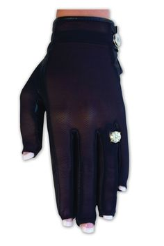 SlamGlam - Lady Classic Solar Tan Black Nail and Ring Full Golf Glove.  get an even tan on your glove hand, while keeping your hand cool, and without letting your finger nails or ring damage your gloves.