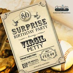 Surprise 80th Birthday Party Invitation | purchased