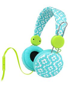 Look at this Kiki Aqua Pop Microphone Over-Ear Headphones on #zulily today!