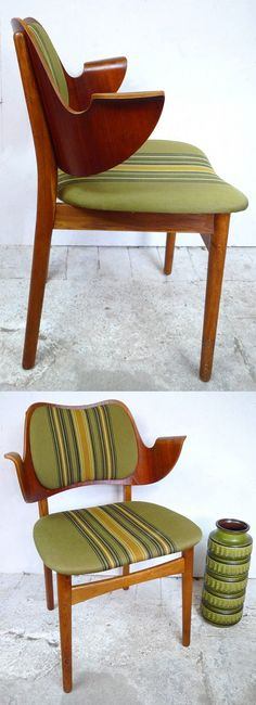 Danish Teak Armchair by Finn Juhl.  I am reminded why I have an aversion to olive-green-and-gold.