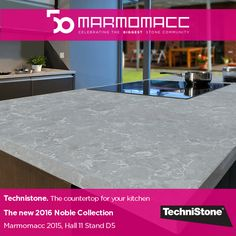 #Marmomacc 2015: Celebrating the Biggest #StoneCommunity. Technistone. The countertop for your kitchen. The new 2016 Noble Collection. Learn more ►► http://www.technistone.com/