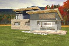 Modern Rear Elevation Plan #497-31 - Houseplans.com