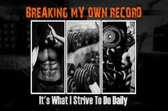 Have you broken any of your records today yet? #fitnessmotivation