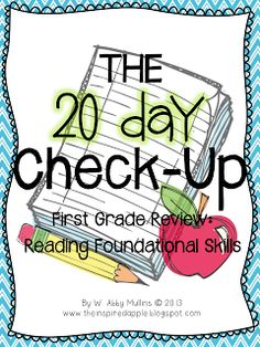 The 20 Day Check-Up!  A review to get your kiddos ready for the end of the year!