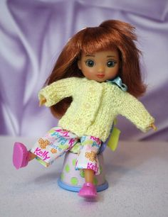 """TiNy KNiTs...a sweater for Wilde Imagination/ Tonner Amelia Thimble or Izzy 5"""" Dolls. One in stock now! Click the pix to take you there."""