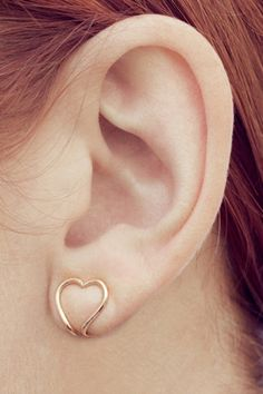 adorable heart-shaped clip ons