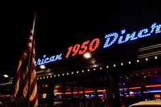 exterior1 1950 American Diner, Broadway Shows, Neon Signs