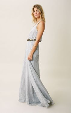 Love Shack Fancy Racer Back silk maxi Dress
