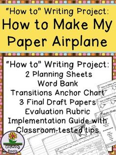 Looking for a How To Writing project to inspire writers of all abilities? Writing a How To piece about a paper airplane students have created will get them writing fluently and with enthusiasm. Students have a vested in interest in using clear, concise language to share their folded creations.