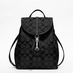Coach :: COACH CLASSIC SMALL BACKPACK IN SIGNATURE FABRIC