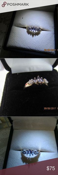 DR91.   10K Gold and Tanzanite Ring. Size 7 Beautiful real 10K hold and tanzanite ring.  2.1 grams.  Size 7 10K Jewelry Rings