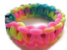 Neon Tie Dye Paracord Survival Bracelet Neon by ACORDING2MACEY
