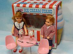 Vintage-Mattel-Tutti-Todd-Sundae-Treat-Gift set-Complete-Ice-Cream-Stand