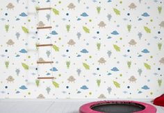 Aliens in the room of your child?? Oh no... Just the coolest wallpaper!