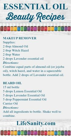Essential Oil Beauty Recipes Click through for more plus a video tutorial