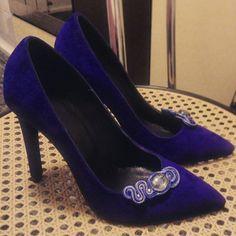 Gorgeous blue stilettos with an elegant soutache touch stilettos