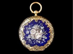 Swiss solid 18ct gold & enamel pocket watch – c1870s