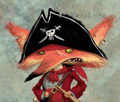 The villainous Captain Cut-Throat in his pirate hat