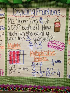 Where Ms.: Five for Friday! Teaching 5th Grade, 7th Grade Math, Teaching Math, Teaching Ideas, Dividing Fractions, Multiplying Fractions, Equivalent Fractions, Math 5, Math Class
