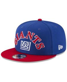 New Era New York Giants Retro Logo 9FIFTY Snapback Cap - Blue Adjustable  Logotipos Retrô 5ba1cee72fb
