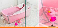 Stokke Flexi Bath Pink Baby Bathtub  Travel-friendly, space-saving, baby bath