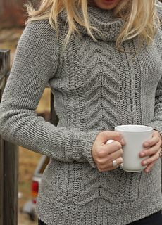 The ultimate everyday pullover in the luxest yarns possible. Rustic asymmetric cables drop down one side of the pullover while a cozy cowl, extra length, and simple stockinette canvas the rest of it for perfect balance. Hand Knitting, Knitting Patterns, Knitting Ideas, Crochet Patterns, Purl Stitch, How To Purl Knit, Sweater Making, Knit Cardigan, Feminine Fashion