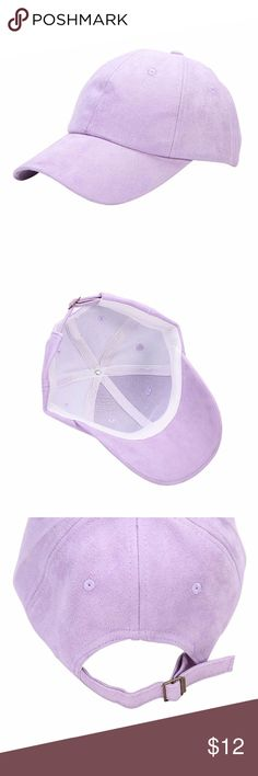 Lavender Suede Baseball Cap Brand new! Purple suede baseball hat  Accessories Hats