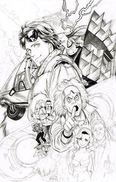 Yusuke Murata   @ NEBU_KURO Back to the future, there are too many characters you want to draw and it does not end