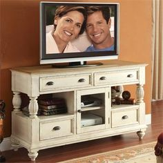 Riverside Furniture – Coventry Tall TV Console