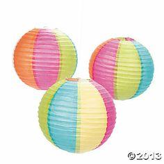Beach Ball Paper Lanterns {Oriental Trading Co.}