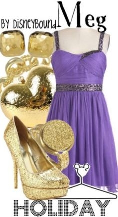 Disney Bound: Meg from Disney's Hercules (Holiday Outfit)
